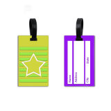 Faire tourner rond PVC Luggage Tag pour les valises avion Sac bagages Tag en plastique