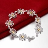 Hotsale Frauen-Blumen-Armband-Silber-Schmucksachen