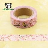 De Roze Kleur van Manzawa 10m Deco Washi Bloemen en Afplakband van het Ontwerp van Vogels het Afgedrukte Douane