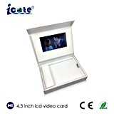 Quente! ! Personalizado 4.3 '' 6 '' 7 do '' da caixa video do cumprimento LCD caixas video de /Business/caixa de presente