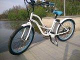 Bike зеленой силы крейсера пляжа девушок электрический поручая для сбывания