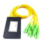 PLC de fibra óptica 1X16 Caixa de plástico divisor para rede sem fio e de aplicação e pode, CCTV