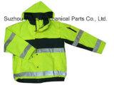 Uja015100% poliéster Anti-Pilling velo polar cubra pano reflexivo Parka Casaco Worksuit Raincoat