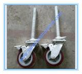 Frein de roue d'échafaudage pour la construction