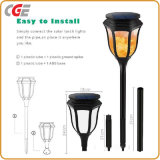 Solar Torch Light Outdoor Dance hall Flame LED Lawn Light with one off Switch LED Bulbs