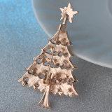 ダイヤモンドのクリスマスの折りえりPinのHightの品質の金属、記念品のギフト(YB-LP-440)のためのメタルピン