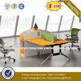 Partition de bureau/poste de travail en bois en verre en aluminium modernes (HX-D9054)