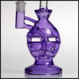 紫色のEggsphereのすてきな卵の再資源業者の母船のバブラーの煙るガラス配水管