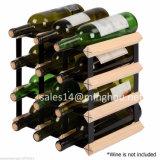 Cremalheira tradicional clássica da adega de vinho do metal e da madeira de 110 frascos