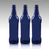 Nach Maß bernsteinfarbiges/frei/Grün/blaue leere Glasbierflasche