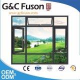 Segurança de grãos de madeira Quarto Interior de alumínio Casement Windows