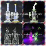 Piccolo tubo di acqua di vetro di colore perfetto di vetro brillante per fumare