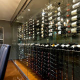 Rek van de Wijn van het Metaal van de Vertoning van de Uitrusting van de Muur van de Wijn van de Rij van de presentatie het Muur Opgezette