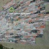 M108 Galaxy Gold Красный Quartzite уступа камня культуры камня для стены оболочка