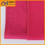 De rode Geweven Stof van het Denim van Spandex van het Katoenen Rayon van de Polyester voor Broek en Jeans