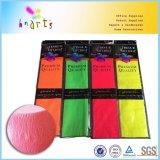 Металлический неон цветов красит бумагу Crepe цвета