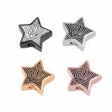 Кремация формы звезды способа Ashes ожерелье урны с фингерпринтом