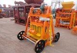Подвижные машина для формовки бетонных блоков Qt40-3b