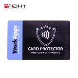 Bloqueio de RFID Protector de cartão sem contato da placa da luva de bloqueio de RFID