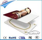 Карточка удостоверения личности PVC RFID пластмассы изготовленный на заказ пробела размера белая франтовская с совместимым обломоком