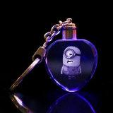 LED Crystal мультфильм цепочки ключей ключи в машине брелки