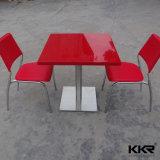 Encimera de mármol Acrylic Superficie sólida juego de mesa y silla de comedor