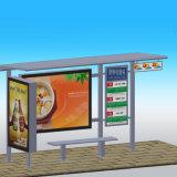 버스 정류소를 광고하는 옥외 도로 시설물 금속 구조