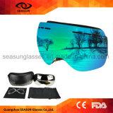Gafas de sol de esquí Googles de los mini del esquí del barco de los anteojos de agua del esquí de motor de los barcos del imán vidrios de los anteojos con insignia de encargo