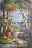 高品質のホーム装飾のための古典的な林業の景色の油絵