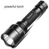 屋外にのための携帯用強く軽い黒LEDの懐中電燈LEDのトーチ