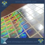 Impresión de encargo de la escritura de la etiqueta del holograma del efecto del arco iris de la alta calidad