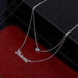 Het hoogste Verkopende Goud van de Diamant van het Kristal 18K plateerde Multilayer Keten van de Manier van de Halsband voor Vrouwen