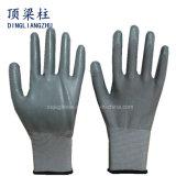 перчатки ладони и перста раковины полиэфира 13G серым покрынные нитрилом