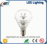 navidad luces LED MTX bombillas de luz LED blanco cálido ST64 CE ahorro de energía LED de 3W estrellada Bombilla iluminación de la decoración