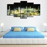 5 PCS/Set enmarcaron los cuadros impresos HD de la lona de arte de la pared del motor de Valentino Rossi para la pintura de la lona de la decoración del hogar del dormitorio de la sala de estar