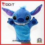 Do bebê macio animal da tela do brinquedo do luxuoso fantoche engraçado do dedo