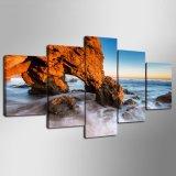 La lona del paisaje marino imprime pinturas de los cuadros del paisaje de la playa del mar del océano de las ilustraciones en el arte de la pared de la lona para la sala de estar