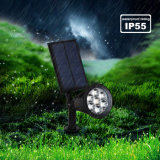 7개의 LED 옥외 점화 태양 스포트라이트 자동 온/오프 방수 태양 강화된 장식적인 조경 벽 빛