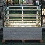 De marmeren Diepvriezer van de Koelkast van de Vertoning van de Cake van de Basis met 3 de Lagen Hogere Plank van het Glas