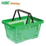 Panier de magasinage en plastique à poignée unique