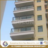 Facilement assemblés résidentiel moderne en verre balcon balustrade en métal