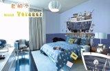 El material no tejido de papel de pared para habitación de los niños con la casa, Plano, globo de aire caliente, libre de formaldehído, la resistencia al formaldehído