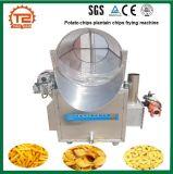 Batch profondo Heated delle patatine fritte del plantano del gas/patatine fritte che frigge macchina