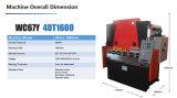 тормоз гидровлического давления CNC 40t1600mm аттестованный Ce