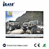 Video scheda di vendita calda del Opuscolo-Video da 5 pollici per il commercio/regalo