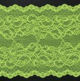 Tela suíça verde do laço do Voile para acessórios do vestuário