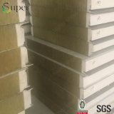건축재료 Prefabricated 집 Rockwool 샌드위치 벽면