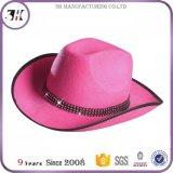 Rhinestone-Wolle-Cowboyhut der Frauen rosafarbener