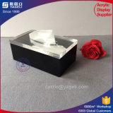 Cadre acrylique noir fait sur commande en gros de papier de soie de soie