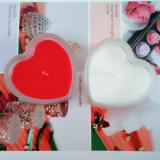 De Kaars van de Dag van Valentin van de Vorm van het hart